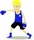 10434041-boxer-cartoon-in-blue-corner-set